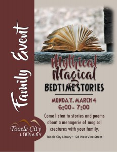 Family Event: Mythical Magical Bedtime Stories @ Tooele City Library | Tooele | Utah | United States
