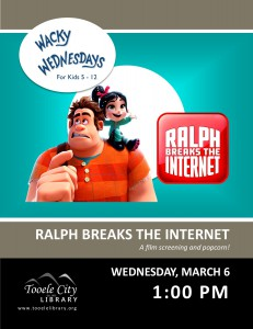 Movie: Ralph Breaks the Internet (Wacky Wednesday) @ Tooele City Library | Tooele | Utah | United States