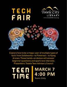 Teen Time: Teen Tech Fair @ Tooele City Library | Tooele | Utah | United States