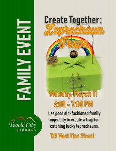 Family Craft: Leprechaun Traps @ Tooele City Library | Tooele | Utah | United States