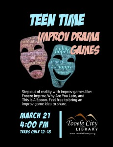 Teen Time: Improv Drama Games @ Tooele City Library | Tooele | Utah | United States