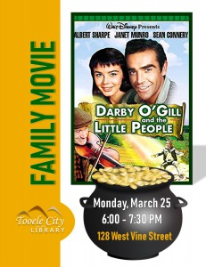 Family Movie: Darby O'Gill and the Little People @ Tooele City Library | Tooele | Utah | United States