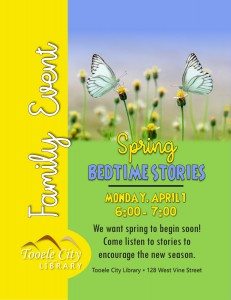 Family Event: Spring Bedtime Stories @ Tooele City Library | Tooele | Utah | United States