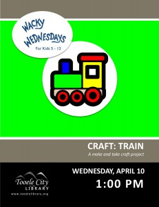 Craft: Shape Train (Wacky Wednesday) @ Tooele City Library | Tooele | Utah | United States