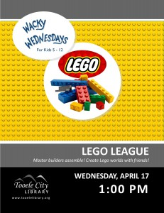 Wacky Wednesday: Lego League @ Tooele City Library | Tooele | Utah | United States