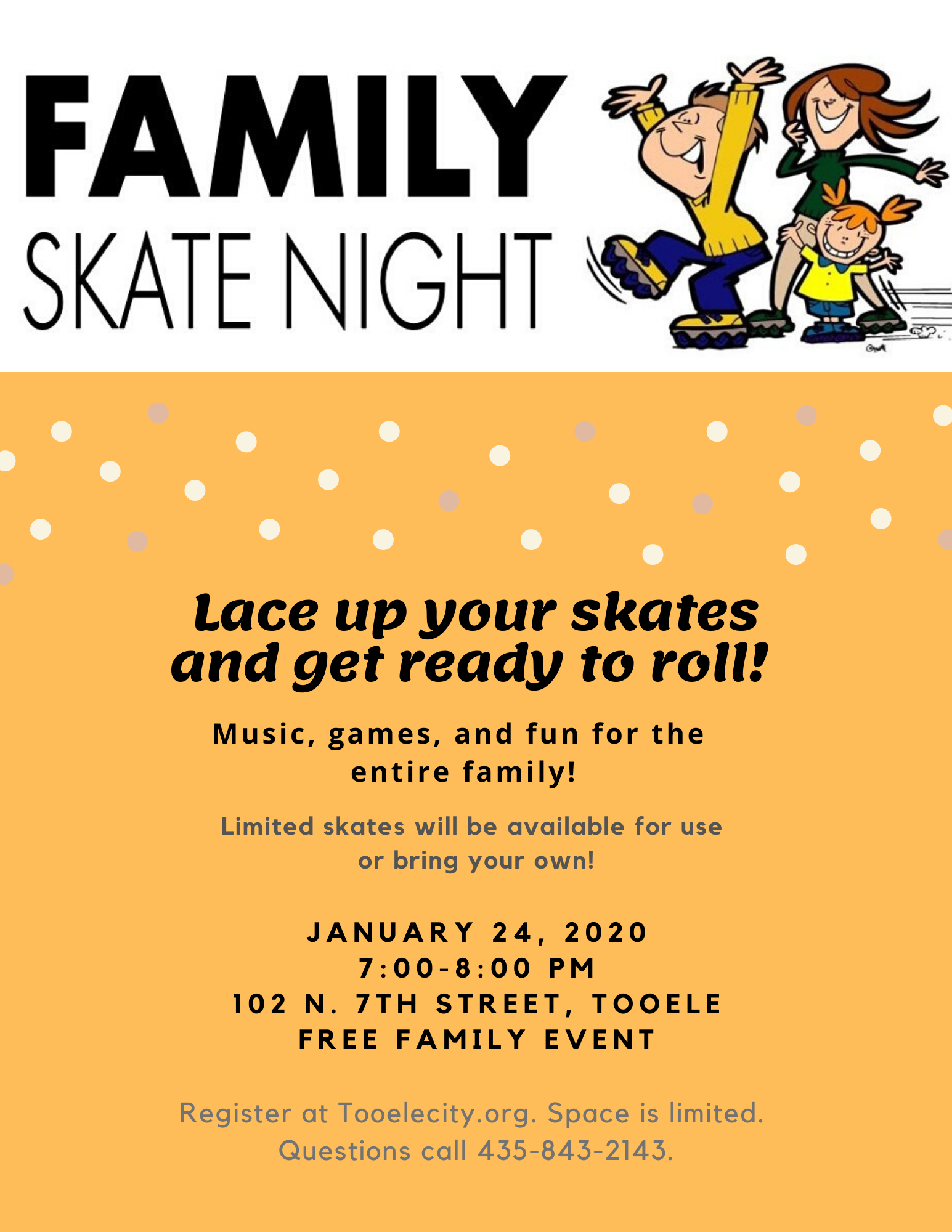 Family Skate Night!  A FREE Family Activity! @ Boys and Girls Club - Teen Center | Tooele | Utah | United States