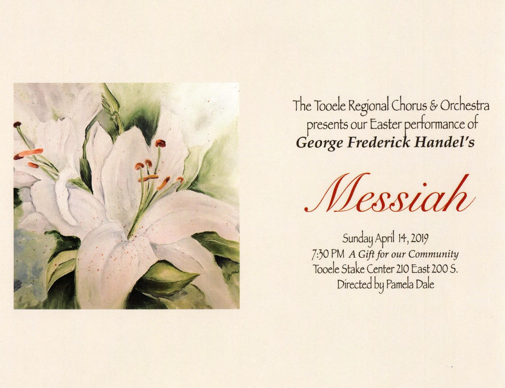 "Handel's ""Messiah"" Easter Performance 2019 @ LDS Chapel 