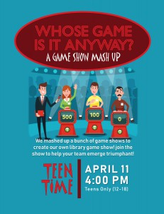 Teen Time: Whose Game is it Anyway? @ Tooele City Library | Tooele | Utah | United States