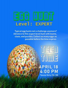 Teen Time: Expert Level Egg Hunt @ Tooele City Library | Tooele | Utah | United States