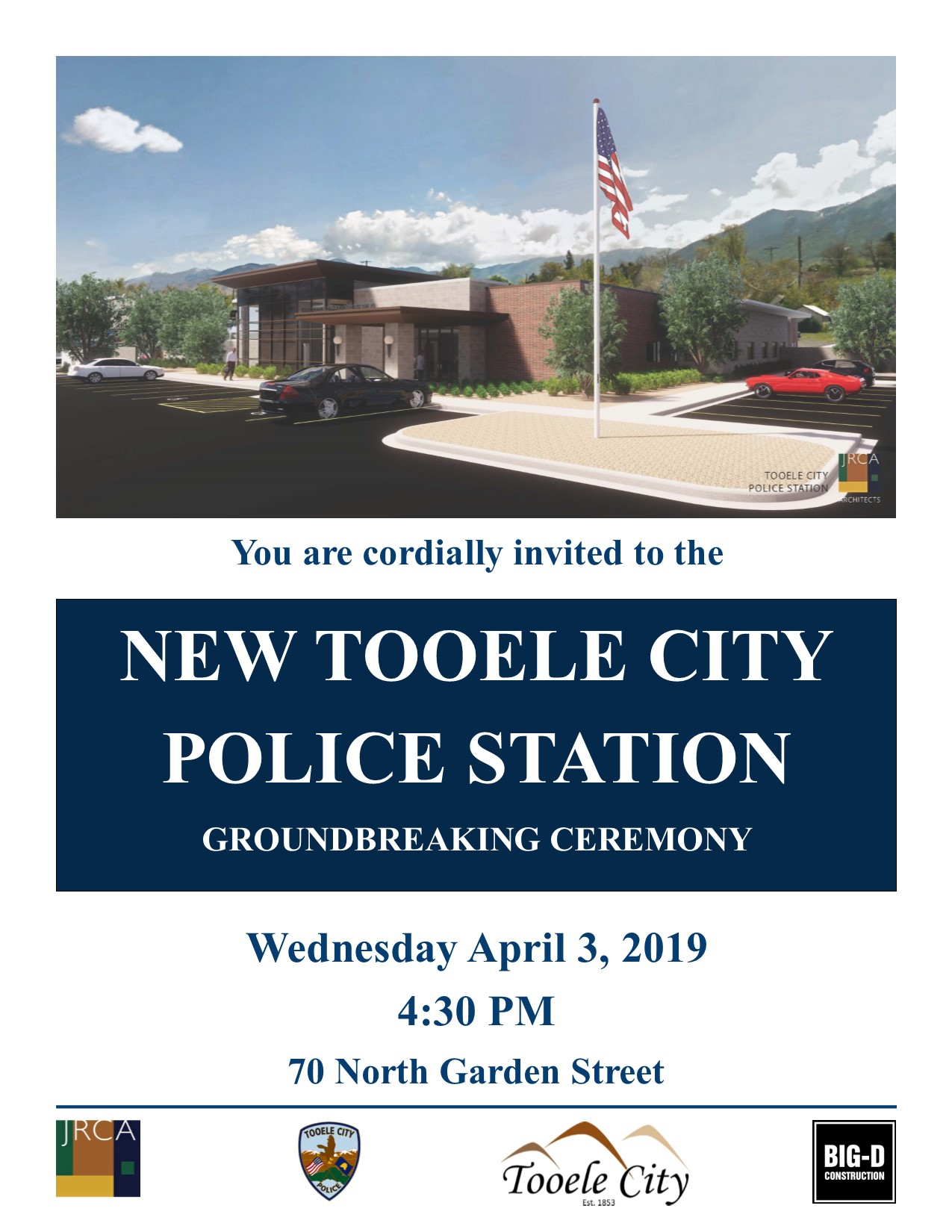 NEW Tooele City Police Station Groundbreaking Ceremony @ New Tooele City Police Station Site