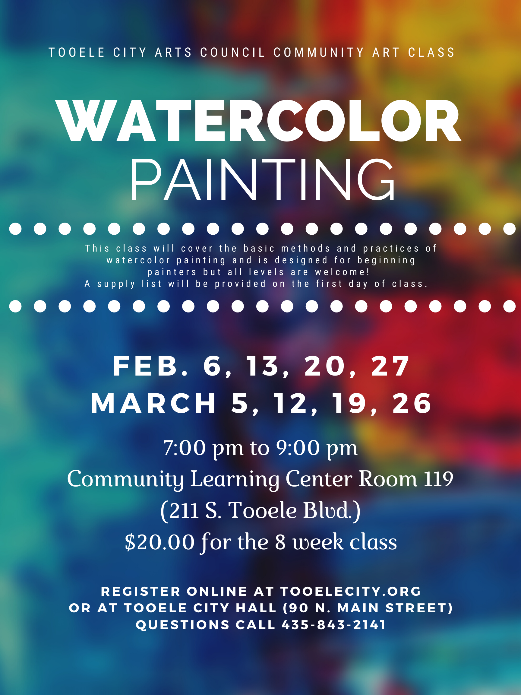 Watercolor Painting 2020 @ Community Learning Center Room #119 | Tooele | Utah | United States