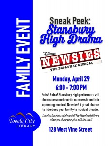 Family Event: Newsies Sneak Peek @ Tooele City Library | Tooele | Utah | United States