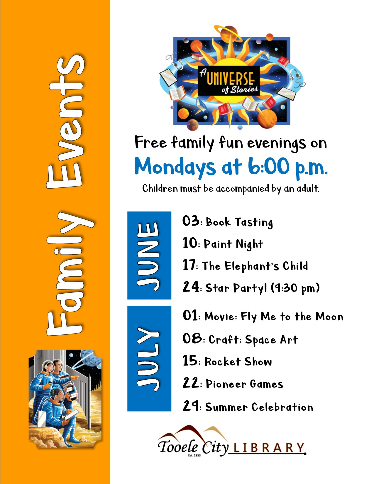 06 03-07 29 Monday Family Events All Summer