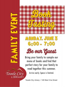 Family Event: Book Tasting @ Tooele City Library | Tooele | Utah | United States