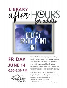 Galaxy Spray Paint Art (After-Hours for Adults) @ Tooele City Library | Tooele | Utah | United States