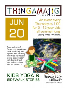 Thing-A-Ma-Jig Thursday: Kids Yoga & Sidewalk Stories @ Tooele City Library | Tooele | Utah | United States