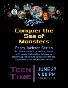 Teen Time: Conquer the Sea of Monsters (Percy Jackson Series) @ Tooele City Library | Tooele | Utah | United States