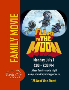 Family Movie: Fly Me to the Moon @ Tooele City Library | Tooele | Utah | United States