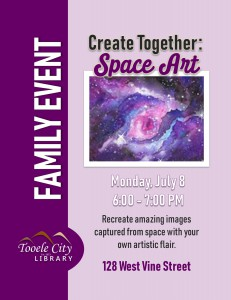 Family Craft: Space Art @ Tooele City Library | Tooele | Utah | United States