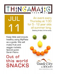 Thing-A-Ma-Jig Thursday: Out of this World Snacks @ Tooele City Library | Tooele | Utah | United States