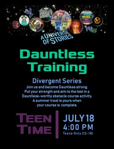 Teen Time: Dauntless Training (Divergent Series) @ Tooele City Library | Tooele | Utah | United States