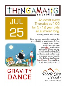 Thing-A-Ma-Jig Thursday: Gravity Dance @ Tooele City Library | Tooele | Utah | United States