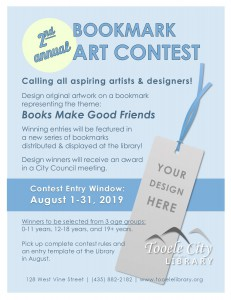 2nd Annual Bookmark Art Contest @ Tooele City Library | Tooele | Utah | United States