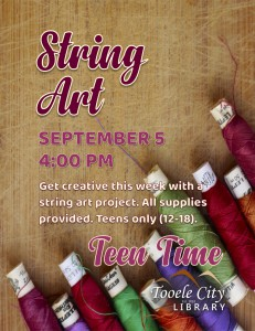 Teen Time: String Art @ Tooele City Library | Tooele | Utah | United States