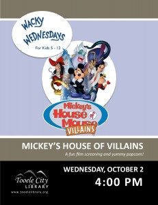Film: Mickey's House of Villains (Wacky Wednesday) @ Tooele City Library | Tooele | Utah | United States