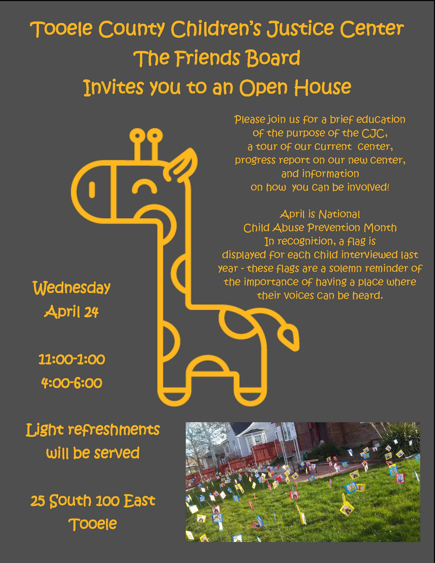 Tooele County Children's Justice Center Open House @ Children's Justice Center