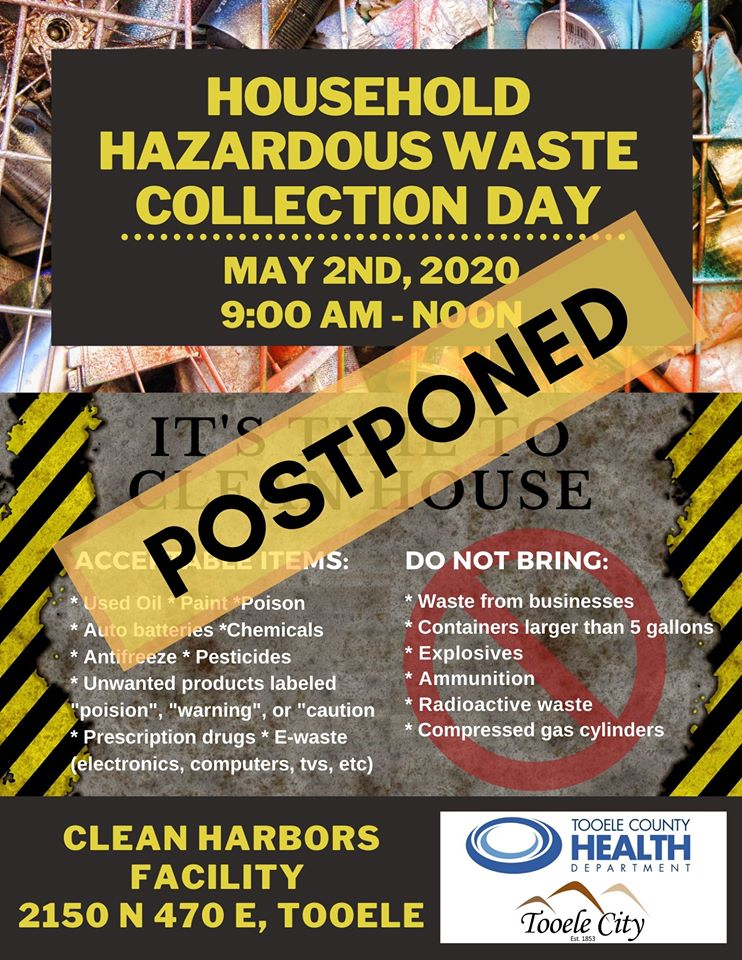 Household Hazardous Waste Collection Day 2020 - Postponed @ Tooele | Utah | United States