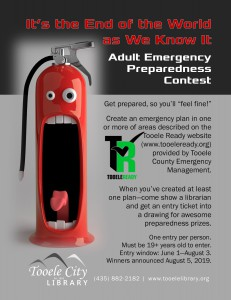 Library: Adult Emergency Preparedness Contest @ Tooele City Library | Tooele | Utah | United States