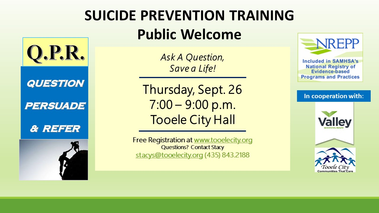 QPR Suicide Prevention Training September 2019