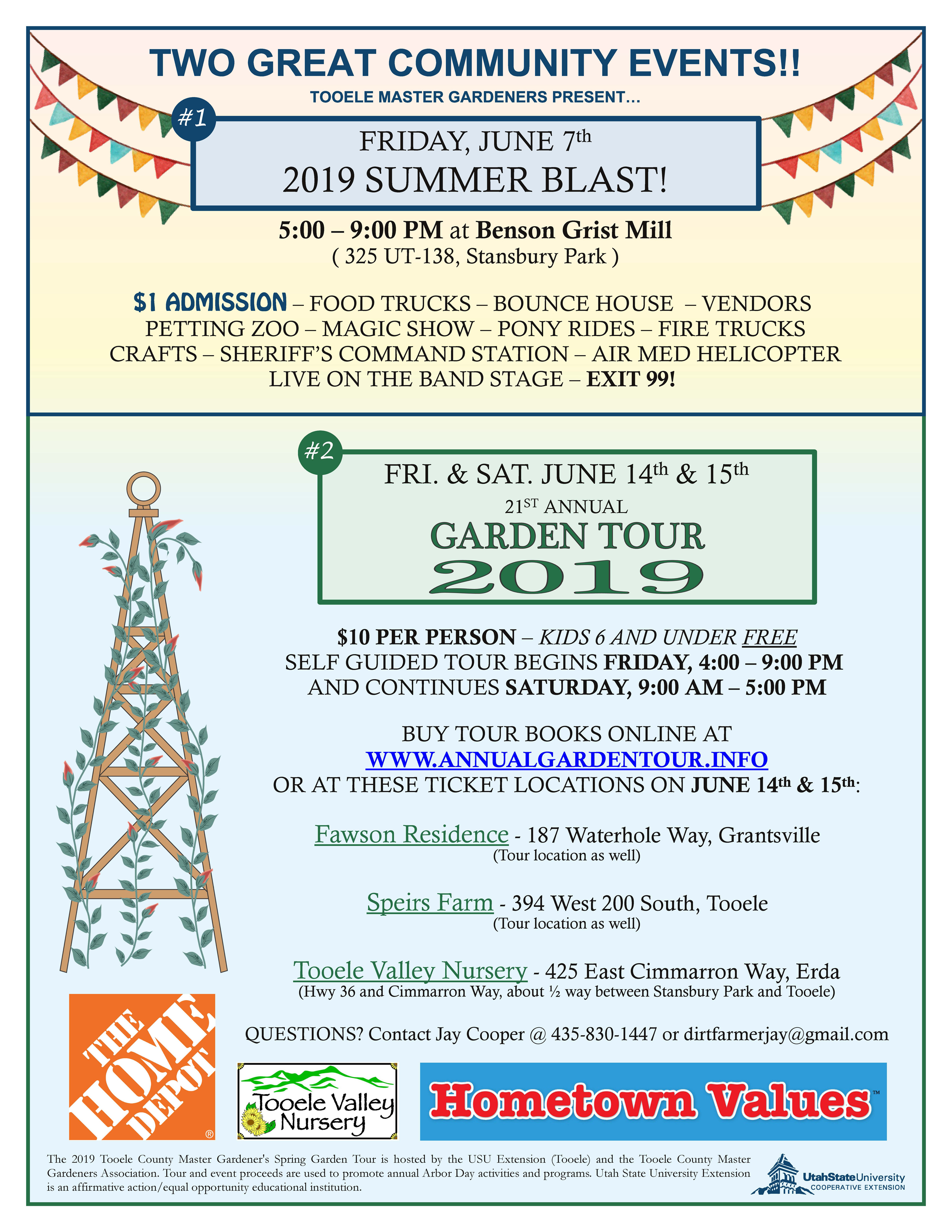 Summer Blast and Garden Tour 2019