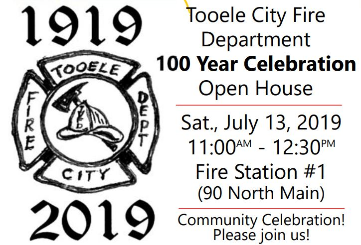 Tooele City Fire Department 100 Year Celebration Open House! @ Fire Station #1