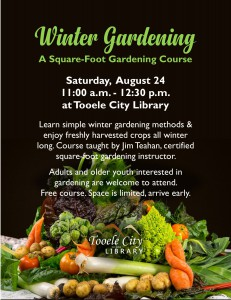 Free Winter Gardening Course @ Tooele City Library