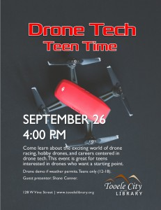 Teen Time: Drone Technologies @ Tooele City Library | Tooele | Utah | United States