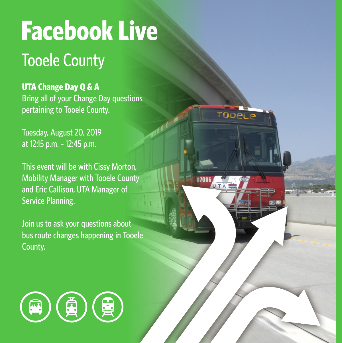 Facebook Live Tooele UTA and County Transportation August 20 2019