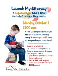 Launch My Literacy Story Time @ Tooele City Library