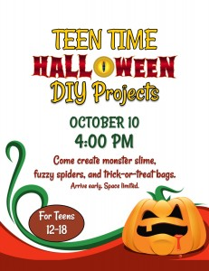 Teen Time: Halloween DIY Projects @ Tooele City Library | Tooele | Utah | United States