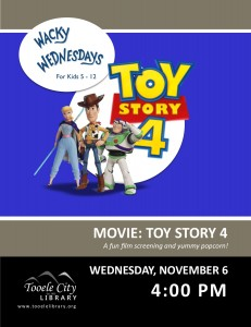 Film: Toy Story 4 (Wacky Wednesday) @ Tooele City Library | Tooele | Utah | United States