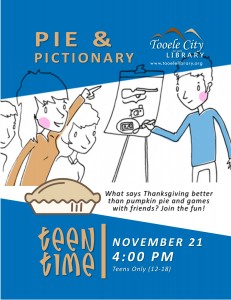 Pie and Pictionary (Teen Time) @ Tooele City Library | Tooele | Utah | United States
