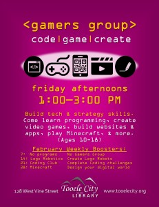 Gamer's Group + Minecraft @ Tooele City Library | Tooele | Utah | United States