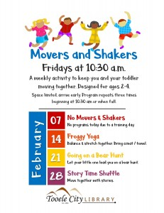 Story Shuffle (Movers & Shakers) @ Tooele City Public Library
