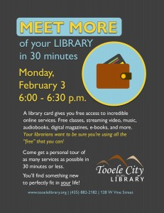 Meet MORE of your Library @ Tooele City Library