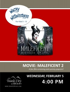 Film: Maleficent 2 (Wacky Wednesday) @ Tooele City Library | Tooele | Utah | United States