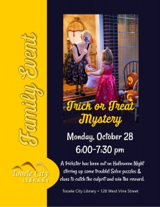 Family Event: Trick or Treat Mystery @ Tooele City Library | Tooele | Utah | United States