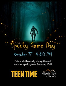 Teen Time: Spooky Game Day @ Tooele City Library | Tooele | Utah | United States