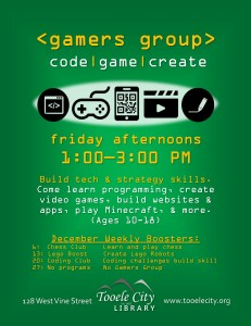 Gamer's Group + Coding @ Tooele City Library | Tooele | Utah | United States