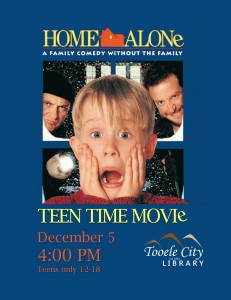 Home Alone Film Screening (Teen Time) @ Tooele City Library | Tooele | Utah | United States